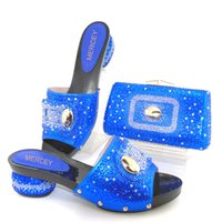 Wholesale Day Bag Beading - Italian shoe with matching bag set for party top quality matching shoes and bag italy new design shoe and bag set to wedding