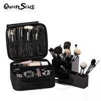 Wholesale Wholesale Makeup Box Cases Professional - Wholesale- Women Classic Multilayer Professional Makeup Bag Travel Portable Lovely Cosmetic Box Storage Case Ladies Large Capacity Suitca