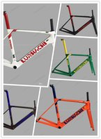 Wholesale Seat Post White - LURHACHI Design 5 Colors Available Carbon Fiber Road Bike Frame+Fork+Seat Post+Clamp+Headset+bb86(bb30 or bb68 adapter) Size XS S M L XL