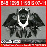 Wholesale 1198 fairings kit for sale - Bodywork For DUCATI S Glossy black R R NO5 S R S S Fairing Kit