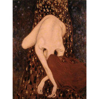 Wholesale Naked Oil Painting Women - Gustav Klimt woman Paintings naked oil canvas reproduction Floating Nude High quality Handmade