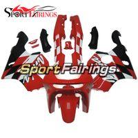Wholesale Ninja Fairing Zx6r 97 - Red White Full Fairings For Kawasaki Ninja 636 ZX6R ZX-6R Year 1994-1997 94-97 Sportbike ABS Motorcycle Body Kit Body Frames