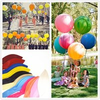 Atacado - Big Large Wedding Decoration Birthday Party Ballons Espessamento Multicolor Latex gigante enorme Balão 45cm 18 polegadas