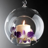 Wholesale Hanging Glass Tealight Holders - Hanging Glass Candle Holder Glass Tea Light Holders for Home Decor,Glass Candle Holder For Wedding