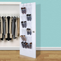 Practival 24 Pocket Door Hanging Shoe Rack Holder Organizador Storage Wall Bag para sacos titular de armazenamento SS4