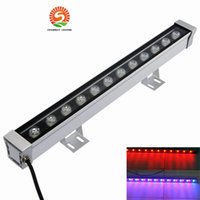 Wholesale flood stain - 36W LED wall washer RGB 36W wash wall LED lamp flood lights staining light bar lights barlight LED floodlight landscape lighting