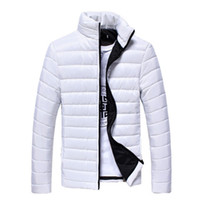 Wholesale Light Brown Coat Male - Wholesale- Men's Winter Down Coat 2016 New White Black Ultra Light Down Jacket For Mens Parka Cotton Down Coat Outwear Male Clothing 3XL 50