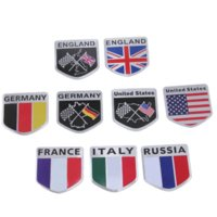 Wholesale Car Country Flag - 10 Pieces 10 Styles Car Auto SUV Automobile Truck Lorry Van Vehicle Machine Motorcycle Bikes Countries Flag 3D Stickers