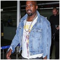 justin bieber vestuário estilo venda por atacado-Atacado- 2017 homens melhor qualidade justin bieber medo de deus jaquetas jeans mens estilo vintage selvedge jean casacos designer de marca clothing
