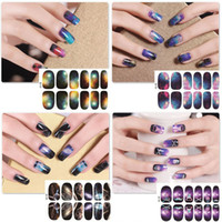 Wholesale Nail Wrap Sticker Galaxy - New 1pcs Water Transfer Star Nails Art Foils Sticker Galaxies Lips Beard Design Nail Manicure Decor Tools Full Cover Wraps Stickers Decals