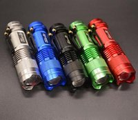 Wholesale Torch Hid Flashlight Mini - Wholesale - UltraFire Mini Flashlight 300LM CREE Q5 LED Zoom In Out Torch 3-Mode 14500 Free DHL