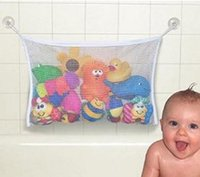 Wholesale Hanging Wall Pouch - seful Durable Baby Kids Bath Toys Pouch Storage Net Mesh Bag With Strong Sucker