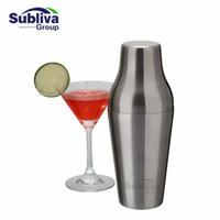 Wholesale Stainless Steel Wine Shaker - 600ml Stainless Steel French Cocktail Shaker Classic And Elegant Bar Cocktail Shaker Bartender Bar Tool
