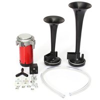 Brand New 12V coche barco de camiones 117DB Air Horn compresor de doble trompeta de tonos Ultra Loud Kit AUP_50H