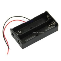 Wholesale Brand New Plastic Battery Storage Case Box Holder for x Black with Wire Leads