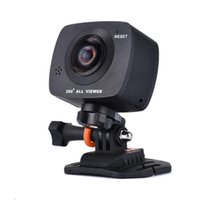 Wholesale panoramic dvr online - N18 Degree P HD All View Dual Fisheye Lens WiFi Sport Action Sweep Panoramic Camera Panorama DVR pc