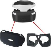 partes internas al por mayor-Estuche protector interno Cubierta protectora de silicona con protección de ojos mejorada Envoltura de silicona suave para PS4 VR PSVR PS VR Cristal de visualización de cristal 3D