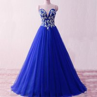 Wholesale Stunning Lace Corset Evening Dress - Stunning Royal Blue Burgundy Prom Dresses Custom Made Sweetheart Sleeveless Beaded Appliques Corset Lace up Back Floor Length Evening Gown