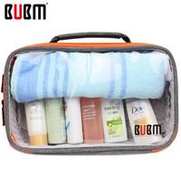 Wholesale House Digital - Bubm Transparent Digital Receiving Bag Cable Women Organizer Toiletries House Items Travel Case Digital Makeup Storage Sorting Bag