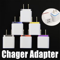 Wholesale Dual USB Wall Chargers Power Adapter US Plug A AC Port for Tablet Samsung LG iPhone Metal Universal Charger Adapter