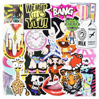 Wholesale Wholesale Vinyl Wall Decals - 50pcs Random wall stickers for kids rooms home decor sticker on laptop skateboard luggage car bicycle motor bike DIY stickers