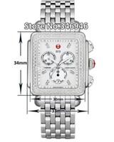 ingrosso gt f1 orologi-Spedizione gratuita Michele Signature DECO Diamanti MOP Diamond Dial Watch da donna MWW06P000099