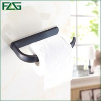 Wholesale Tissue Box Holder Wall Mount - FLG New Luxury Wall Mounted Oil Rubbed Bronze Paper Box Roll Holder Toilet Paper Holder Tissue Box Bathroom Accessories 81304