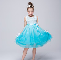 beautiful flower girl dresses achat en gros de-2017 NOUVELLE ARRIVÉE 4 couleur chaude vente 3D stéréo fleur Princesse filles robe Belle Princesse Fille Robe grenadine Robes