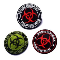 Wholesale Badges Games - VP-126 3.15*3.15 inch 3D Embroidered patches Zombie Outbreak Tactical Badge patches outdoor badges sew on patch Game patch