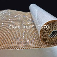 Wholesale Hot Fix 3mm Crystal - Hot fix 3mm rhinestone mesh trimming, crystal rhinestone mesh wrap roll, rhinestone applique trim for christmas ornaments beads