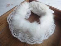 Wholesale Rex Lace - Unique product Free ship Rex fur genuine collar with lace trimming white color