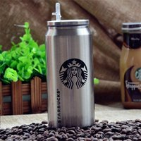 Wholesale Wholesale Metal Watering Cans - Vacuum Cup Creative Coke Can Starbucks Coffee Stainless Steel Insulation Mug Durable Keep Warm Water Bottle Outdoor Portable 11rp R