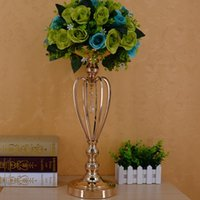 Wholesale Hawaii Products - Gold-plated iron crown vase, wedding props, the main table decoration products fast delivery free shipping WQ16