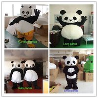 Wholesale Chinese Full Size Dolls - EMS 4style Role-playing panda doll clothing, Chinese national treasure panda animal Mascot Costume Fancy Dress Adult Size Kung Fu Panda