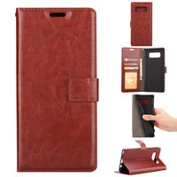 Wholesale Design Note Case - For Samsung Note 8 Luxury Wallet Design PU Leather Flip Case for phone Bag With Card Slots Stand function