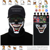 Wholesale Multifunctional Printed Seamless Bandana - 1pc lot High Quality Skull Face Bandana Ghost Motorcycle Face Shield Halloween Multifunctional Bandana Tube Headwear Magic Seamless Scarf