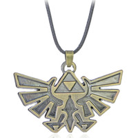 Wholesale Eagle Necklaces Women - 9Pcs Vintage Copper Plated Alloy Statement triangle Zelda logo Badge mark hawk eagle emblem child Cartoon Pendant Necklace Women 2017 x396