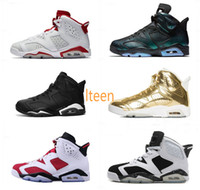 Wholesale Cats Women Shoes - High Quality Air Retro 6 Men Women Basketball Shoes Black Infrared Chameleon Black Cat Metallic Gold 6s sneakers Athletics Boots