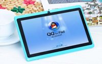 Precio bajo al por mayor q88 7 pulgadas Android 4.4 Tablet PC ALLwinner A33 Quade Core Tablet doble cámara 8GB 512MB tabletas baratas