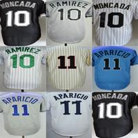 Wholesale Alexei Ramirez Baseball - Custom Mens Womens Kids Toddlers Chicago 10 Yoan Moncada 10 Alexei Ramirez 11 Luis Aparicio Black Grey White Beige Blue Baseball Jerseys
