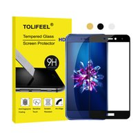 Wholesale v8 cover - 2.5D Full Cover Tempered Glass Film Screen Protector For Huawei Honor V8 8 Lite P8 2017 Protective Glass Film