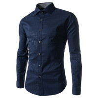 Wholesale Wholesale Slim Fit Shirts - Wholesale- plaid mens shirts slim fit M-5XL 100% cotton 2016 mens dress shirts male clothes social casual shirt men brand chemise homme