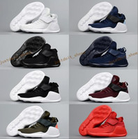 Wholesale High Boots For Kids - Kids Air KWAZI Running Shoes For Boys Black Red White High Quality basketball Boots Children Outdoor Sneakers athletic Casual Sport shoes