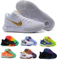 Wholesale Cheap Nylon Mesh - Cheap Kyrie 3 Basketball Shoes Men Women Orange Crossover Huarache Cavs Kyrie Irving 3s III Basketball Sports Shoes Replicas Sneakers Size 5