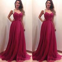 Wholesale Sweetheart European Prom Dress - 2017 New Evening Cheap Dresses hot Prom Dresses European Deep V-Neck Dress Long Dress Red Dress