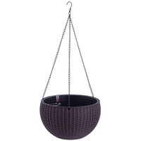 colgante flor planta interior cesta al aire libre cesta de flores titular de la cesta plantador de plantas para plantas titular de la olla con indicador de