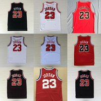 Wholesale Michael Shirts - Mens Mesh #23 Retro Basketball Throwback Jerseys Cheap All Star Breathable Sports Jersey#23 Michael 1997-98 Top Quality new arrival Shirts