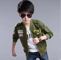 Wholesale Boys Trench - Boys Coat Jacket Bomber Jacket Teenager Boy's Spring Jacket Autumn Outwear Garment Big Boys Trench