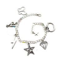 Wholesale Friendship Magic - 12pcs Friendship Is Magic Charm Bracelet butterfly for Fluttershy Balloons for Pinkie Pie charm adjustable silver tone