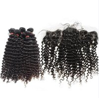 Wholesale Deep Weave Brazillian Hair - 2017 newest Smooth Brazilian Virgin Hair Bundles and Lace Frontal Brazilian Deep Curl Hair Befa Brazillian Human Hair